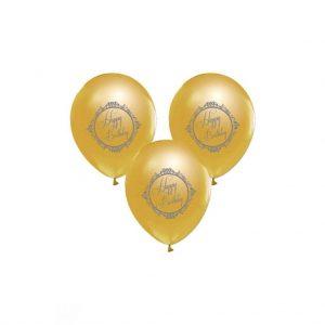 altın renk balon happy birthday balon