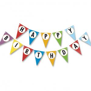 happy birthday üçgen flama