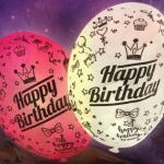 Yer Tutucu Happy Birthday Işıklı Balonlar 4lü