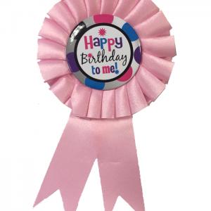 Doğum günü Pembe Rozet