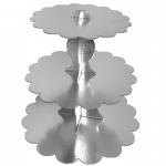 gümüş renkli kek standı
