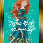 Brave Merida Kişiselleştirilebilir doğumgünü Posteri