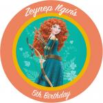 Brave Merida kişiselleştirilebilir etiket